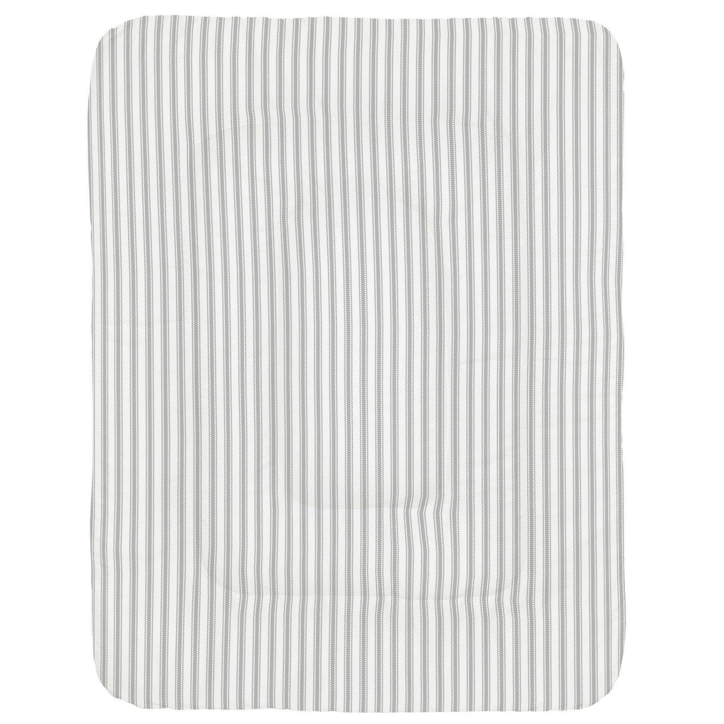 Product image for Cloud Gray Ticking Stripe Crib Comforter