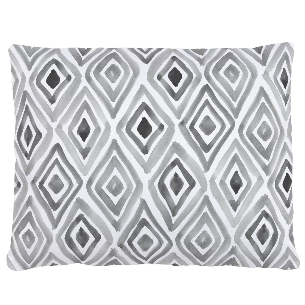 Product image for Gray Painted Diamond Accent Pillow