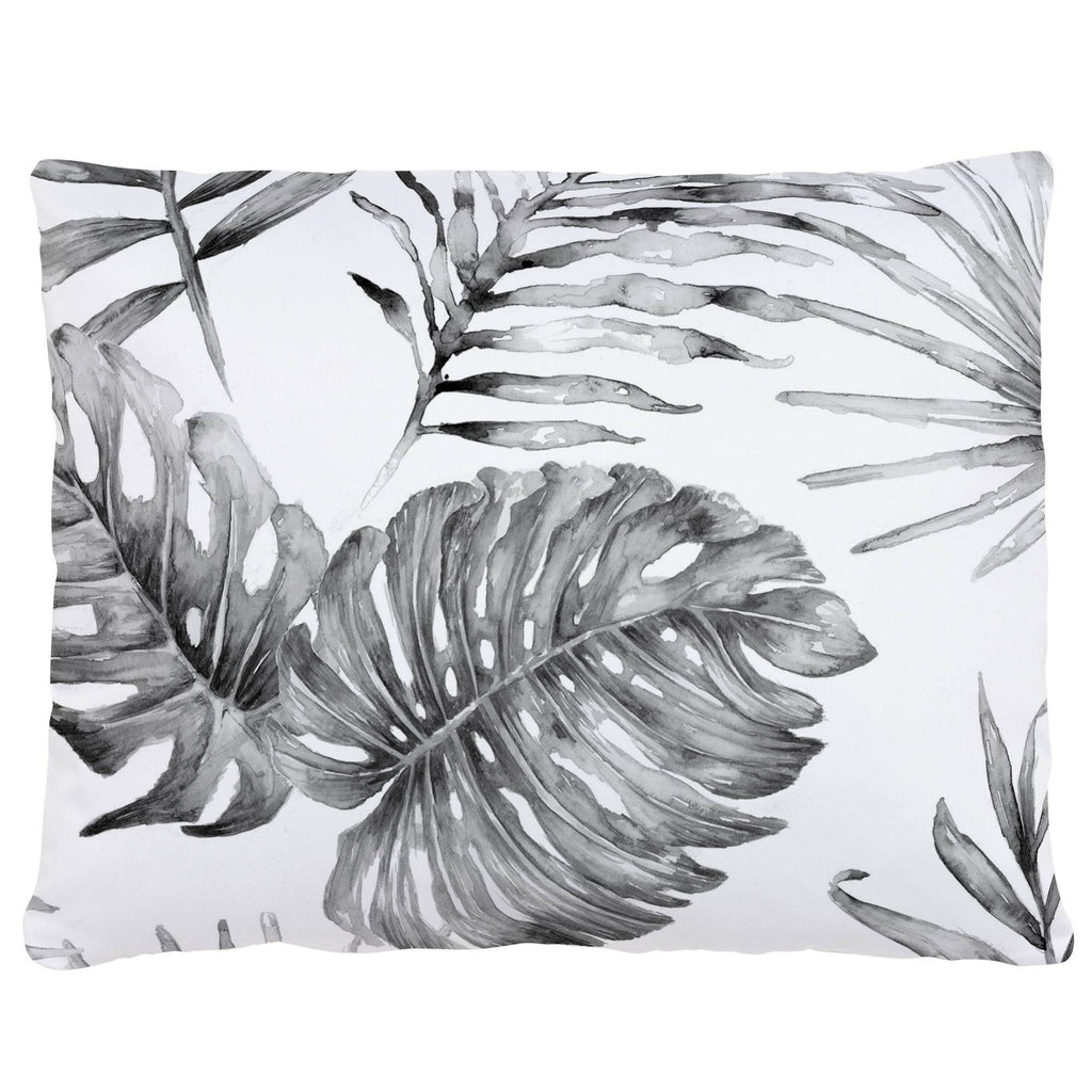 Product image for Gray Painted Tropical Accent Pillow