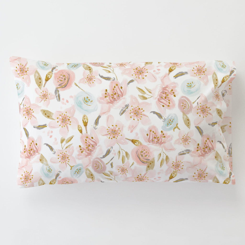 Product image for Pink Hawaiian Floral Toddler Pillow Case with Pillow Insert