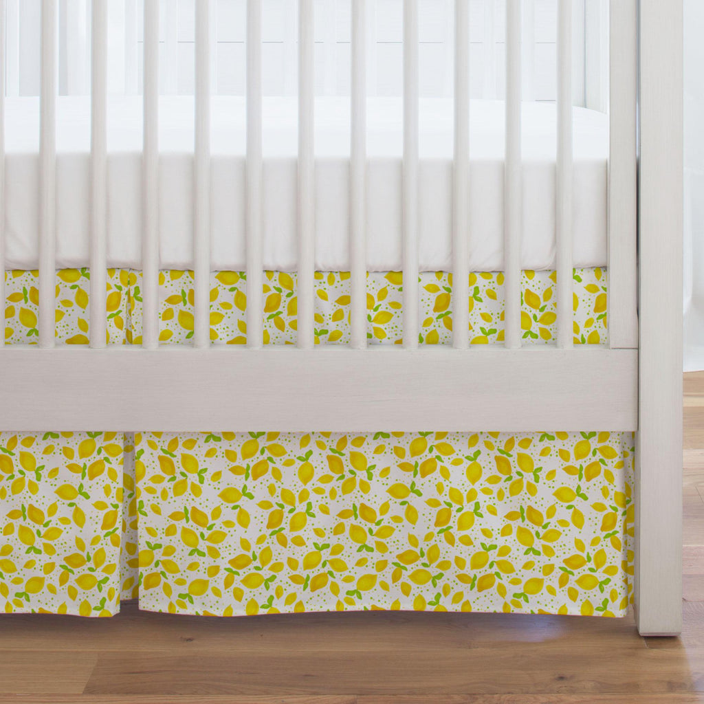 Product image for Little Lemons Crib Skirt Single-Pleat