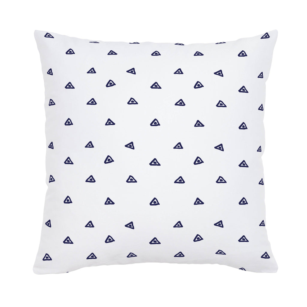 Product image for Navy Triangle Dots Throw Pillow