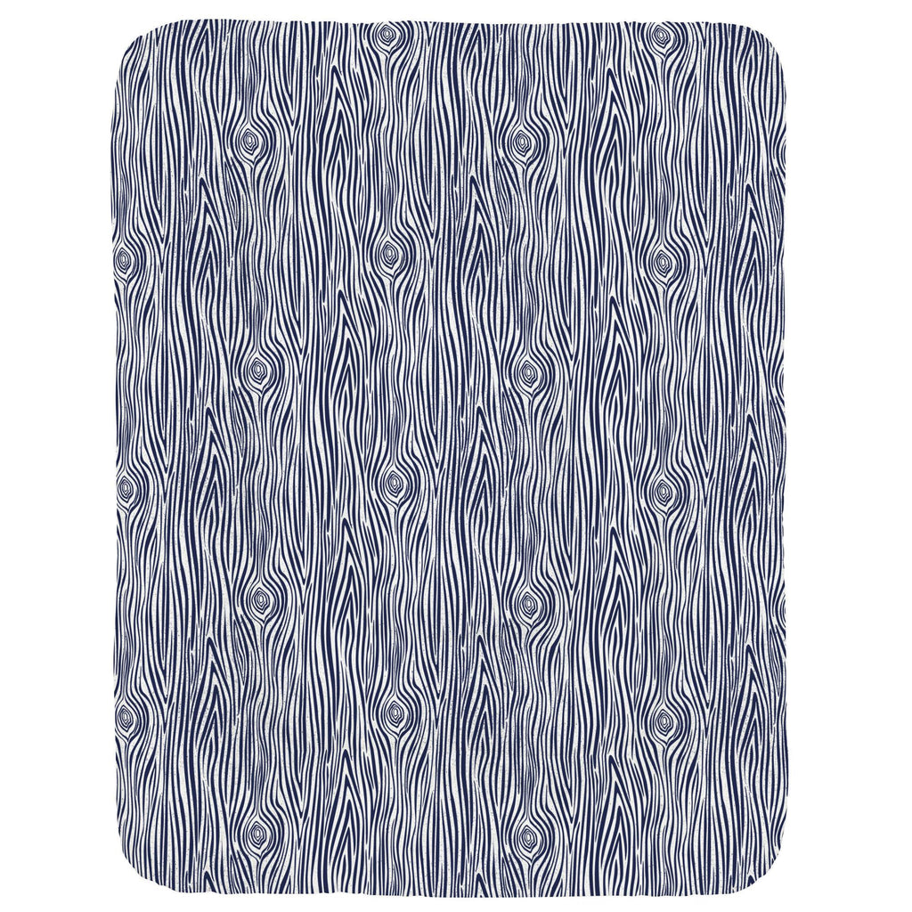 Product image for Navy Woodgrain Crib Comforter
