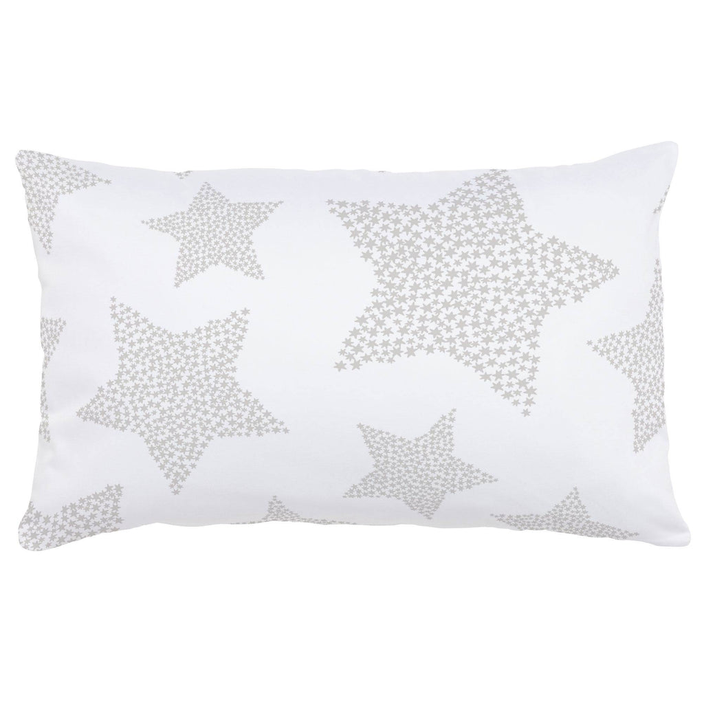 Product image for French Gray Galaxy Stars Lumbar Pillow