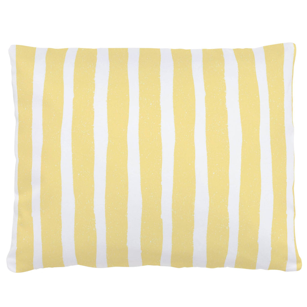 Product image for Banana Yellow Weathered Stripe Accent Pillow