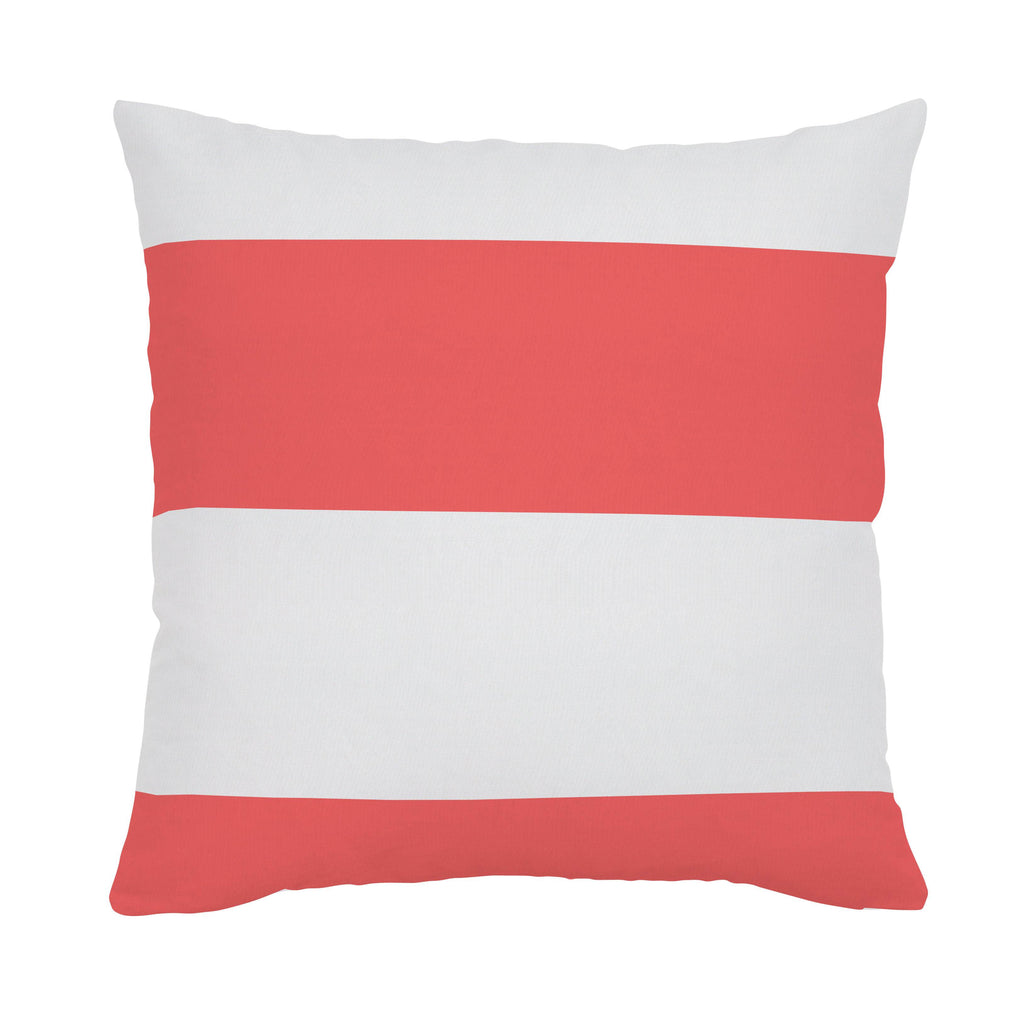 Product image for Coral Horizontal Stripe Throw Pillow