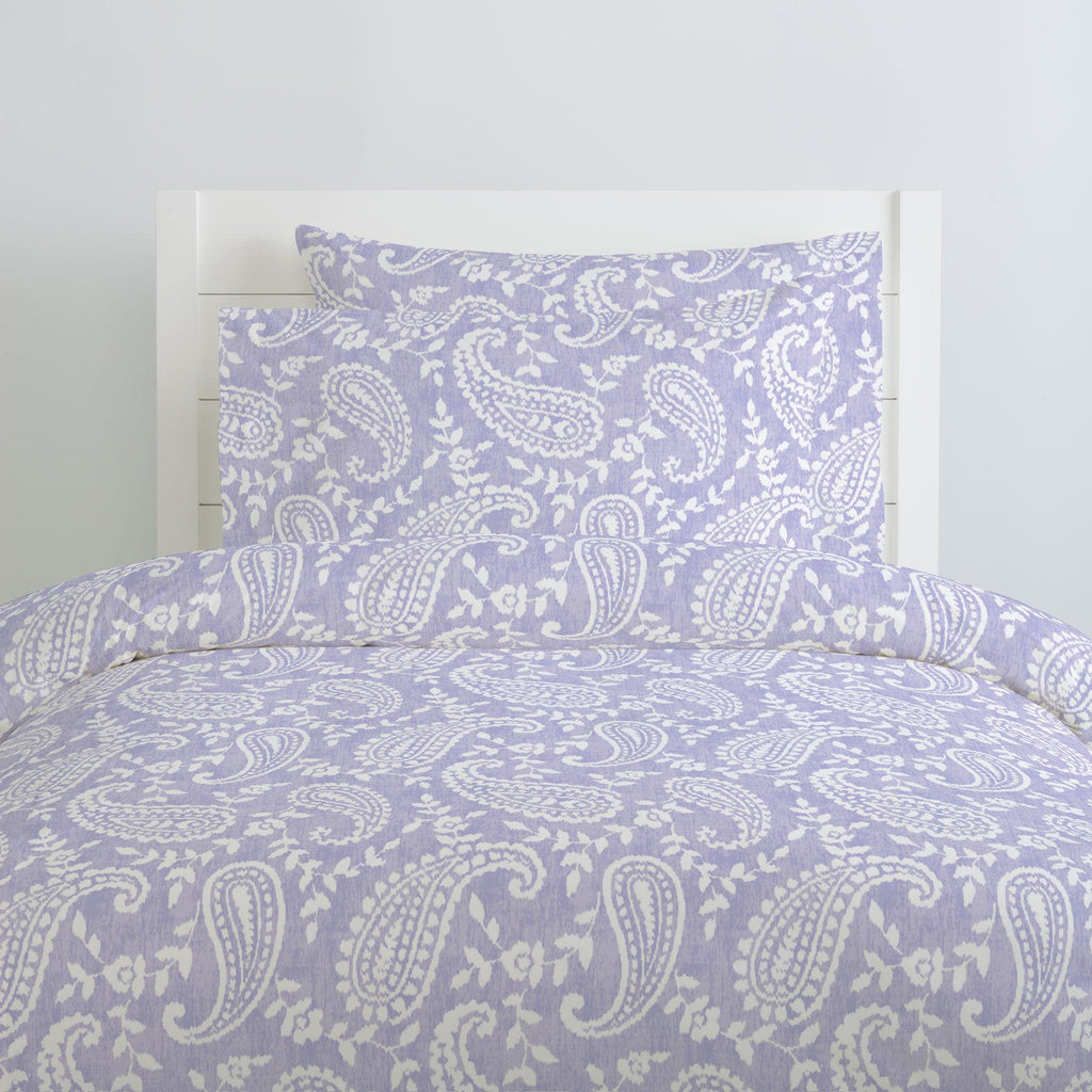 Product image for Lilac Paisley Duvet Cover