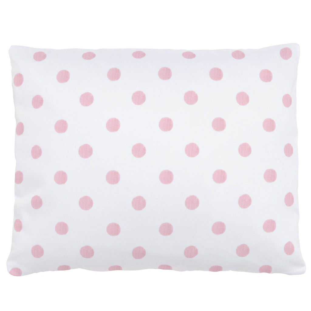 Product image for White and Pink Polka Dot Accent Pillow