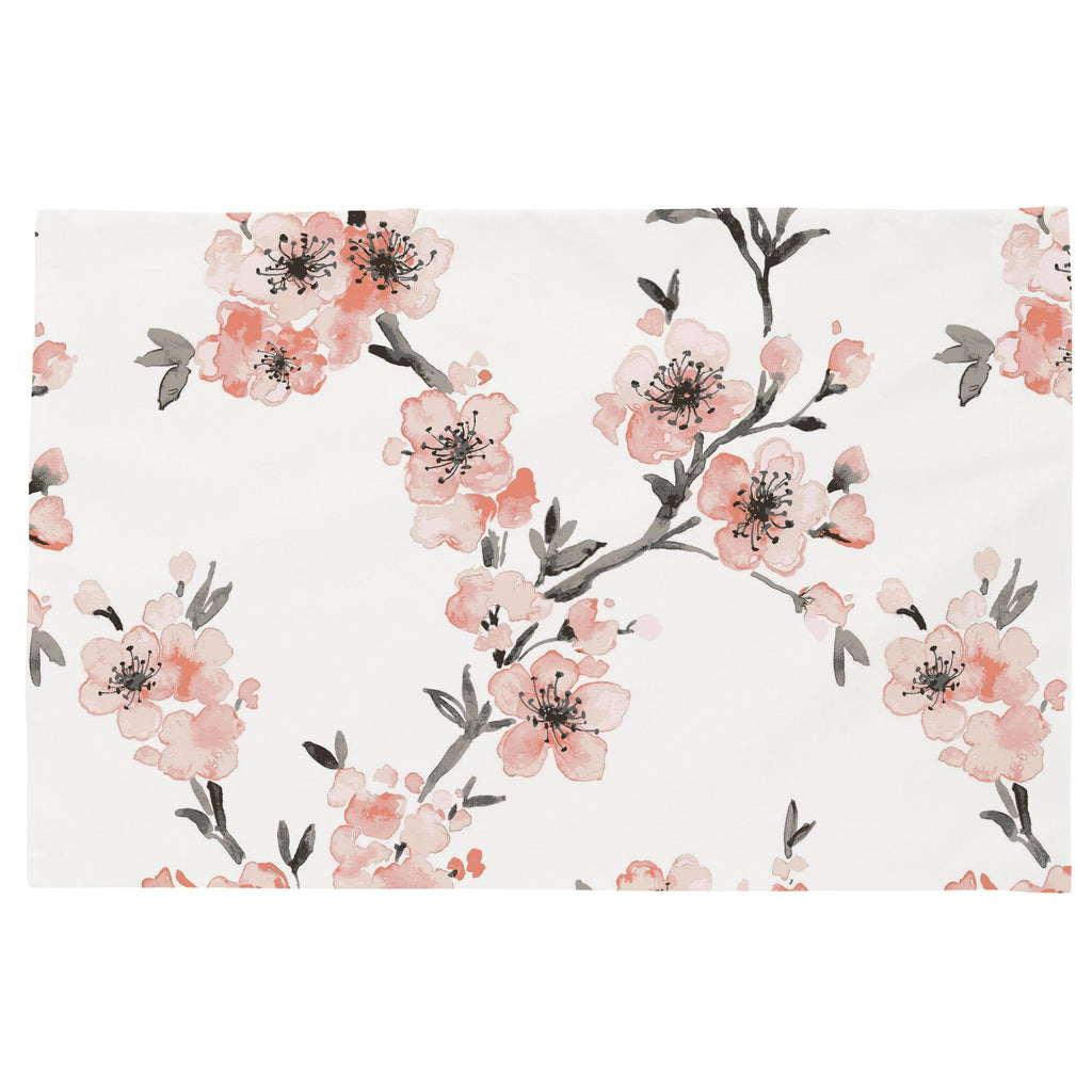 Product image for Light Coral Cherry Blossom Toddler Pillow Case