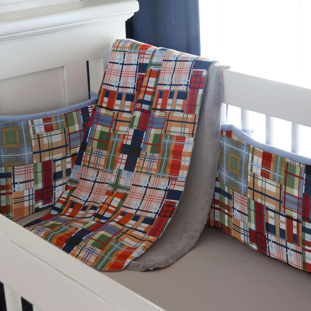 Product image for Patchwork Plaid Baby Blanket