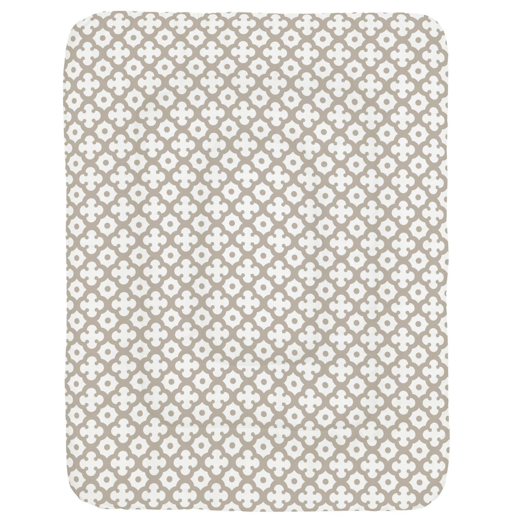 Product image for Taupe Moroccan Tile Crib Comforter