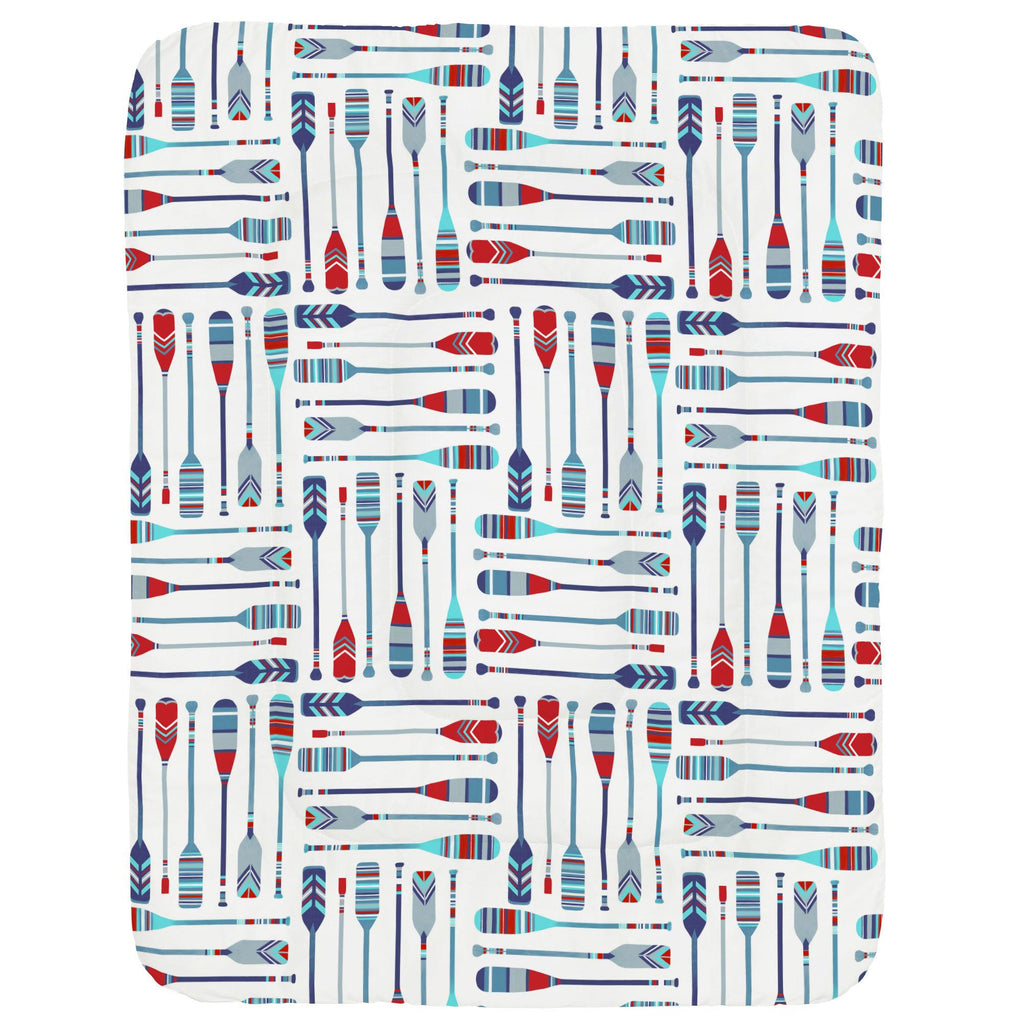 Product image for Red and Blue Oars Crib Comforter