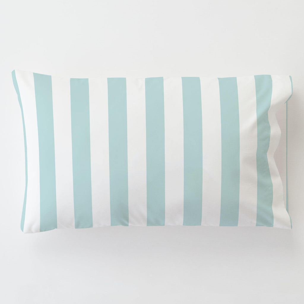 Product image for Mist Canopy Stripe Toddler Pillow Case with Pillow Insert