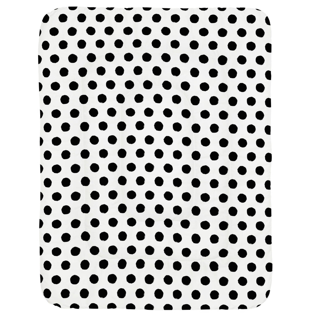 Product image for Onyx Brush Dots Crib Comforter