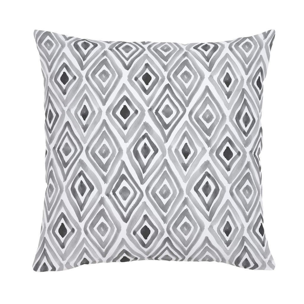 Product image for Gray Painted Diamond Throw Pillow