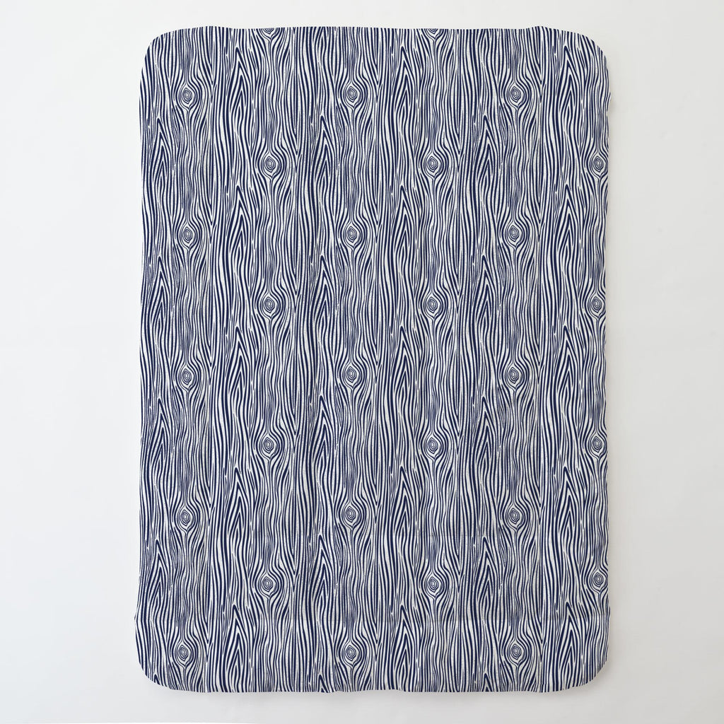 Product image for Navy Woodgrain Toddler Comforter