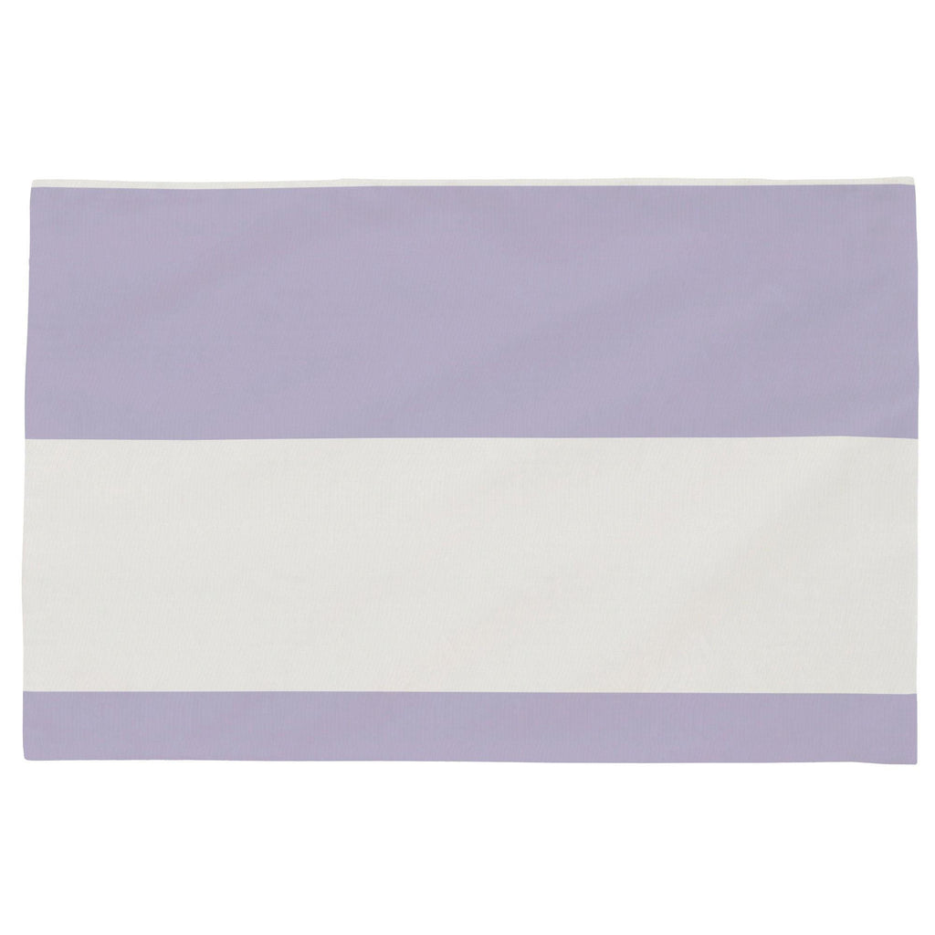 Product image for Lilac Horizontal Stripe Toddler Pillow Case