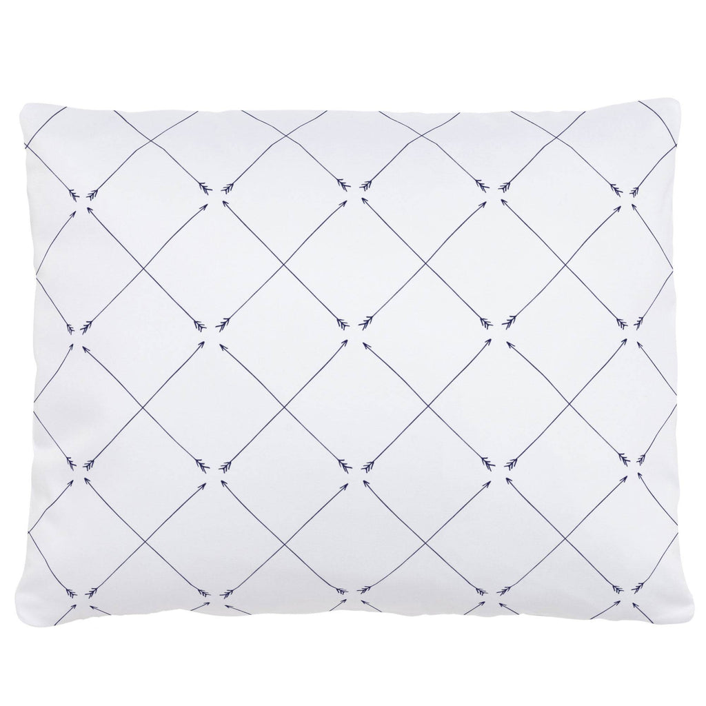 Product image for Navy Cross Arrow Accent Pillow