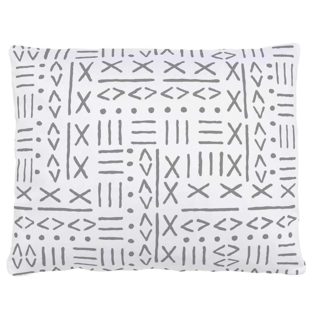 Product image for Cloud Gray Mudcloth Accent Pillow
