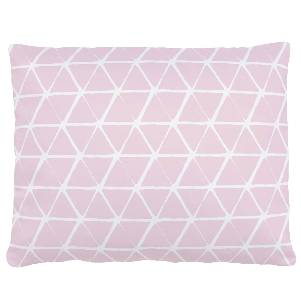 Product image for Pink Aztec Triangles Accent Pillow