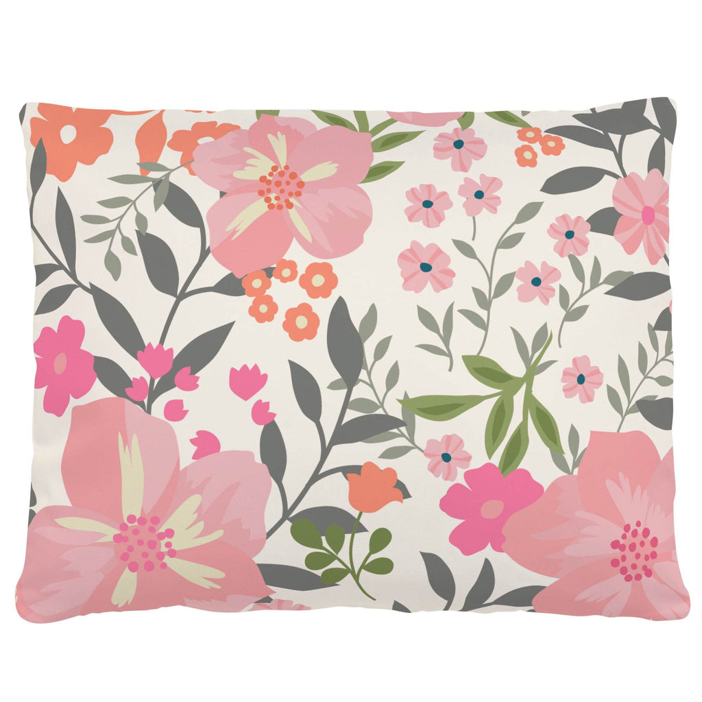 Product image for Pink and Orange Floral Tropic Accent Pillow