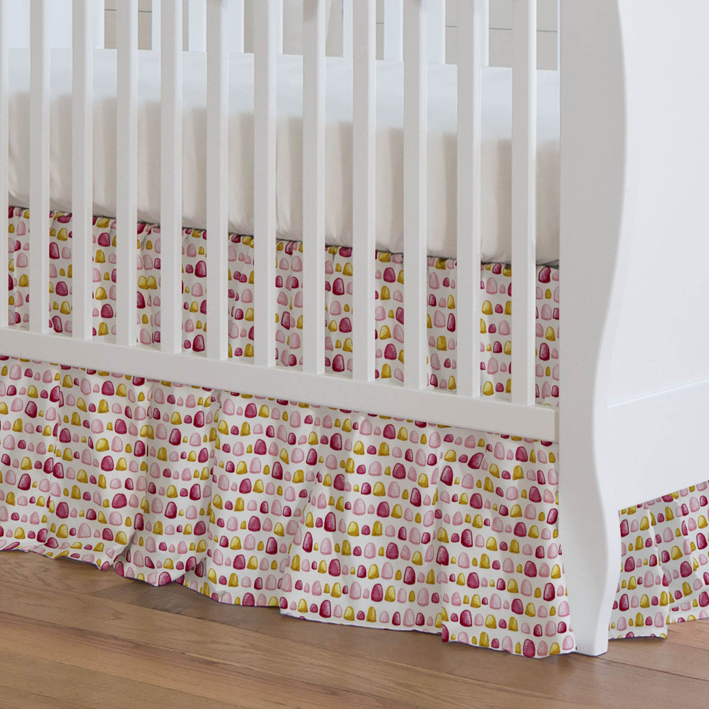 Product image for Painted Gumdrops Crib Skirt Gathered