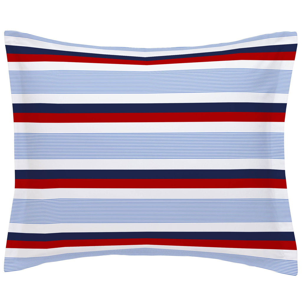 Product image for Red and Blue Stripe Pillow Sham