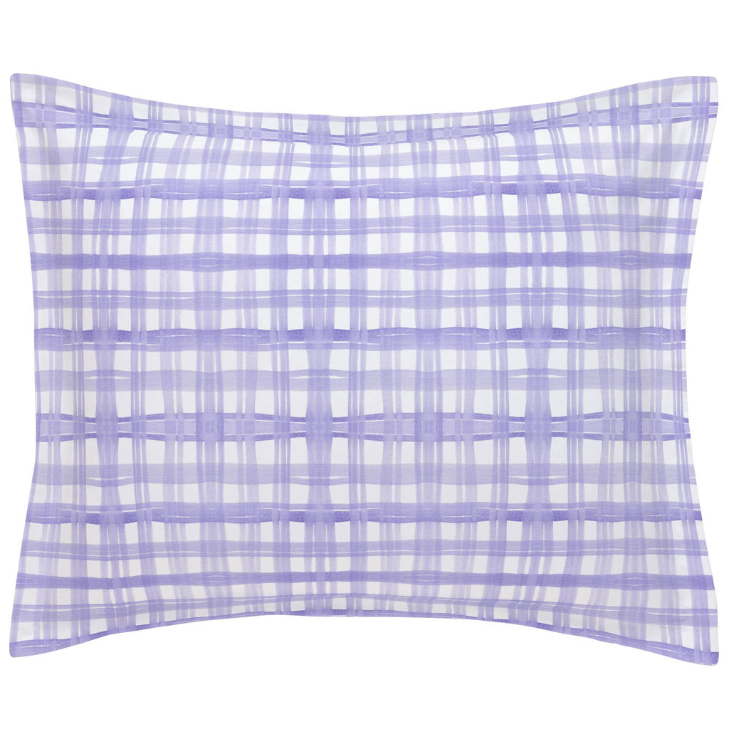 Product image for Lilac Watercolor Plaid Pillow Sham