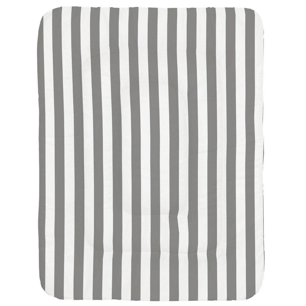 Product image for White and Gray Stripe Crib Comforter