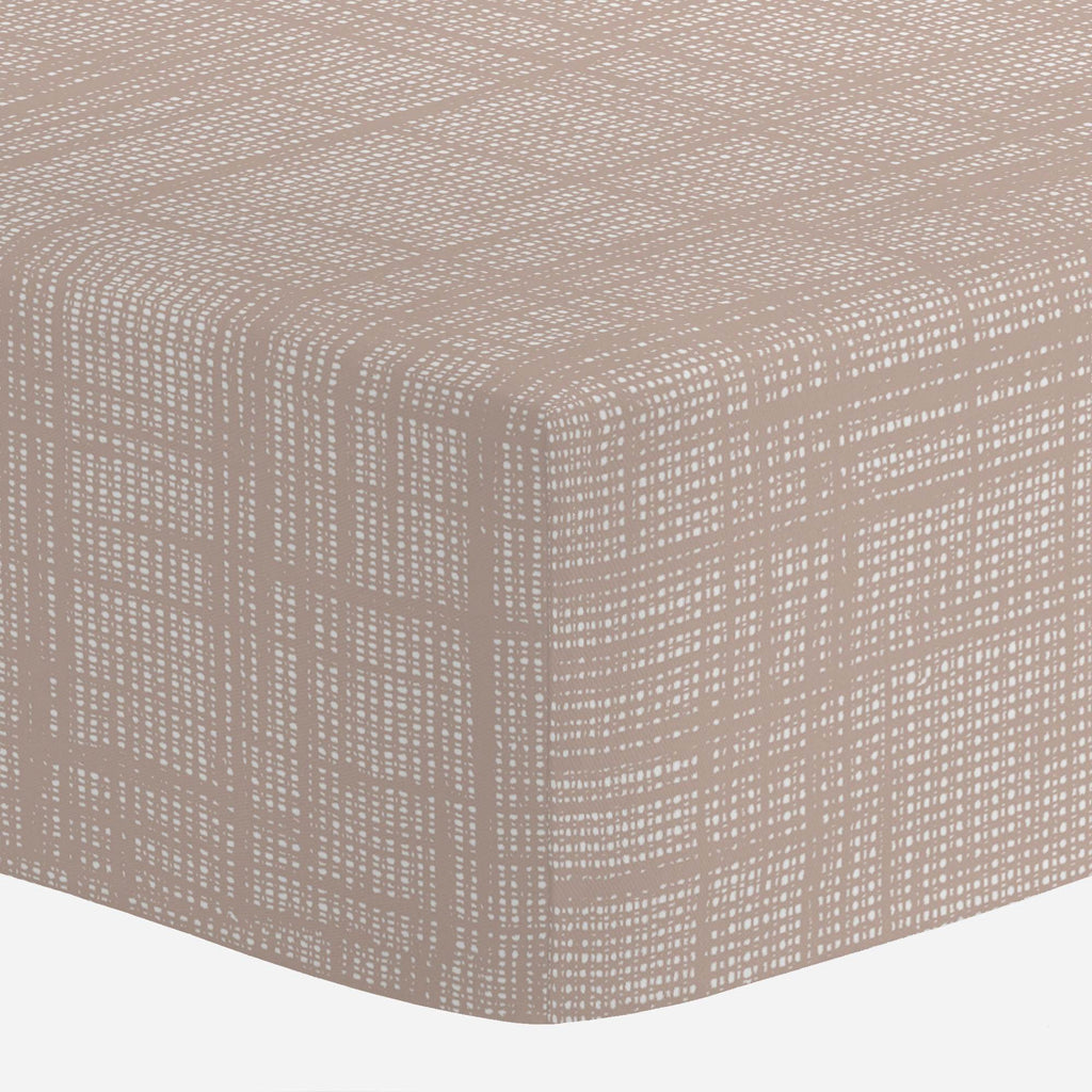Product image for Desert Pink Seagrass Crib Sheet