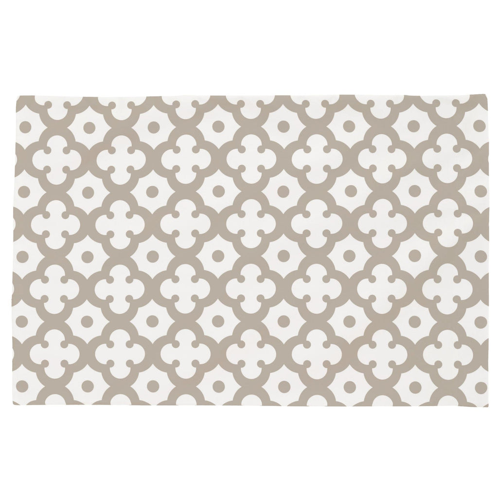 Product image for Taupe Moroccan Tile Toddler Pillow Case