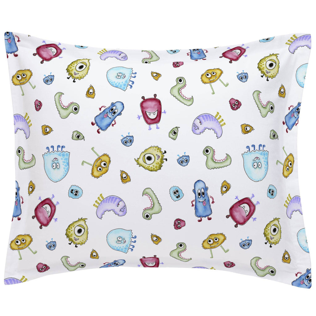 Product image for Watercolor Monsters Pillow Sham
