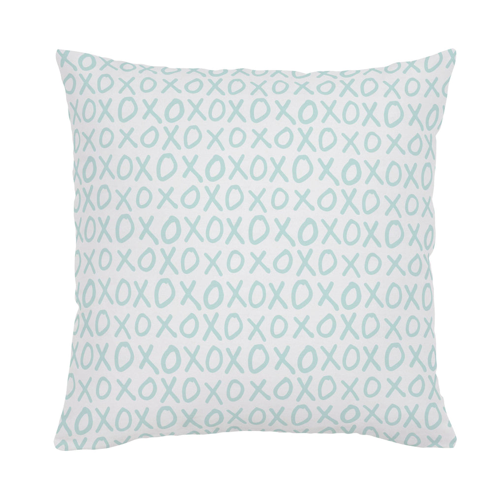 Product image for Icy Mint XO Throw Pillow
