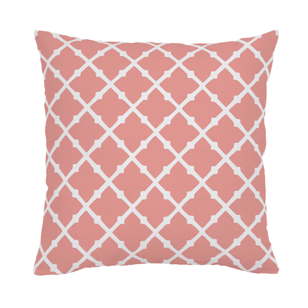 Product image for Light Coral Lattice Throw Pillow