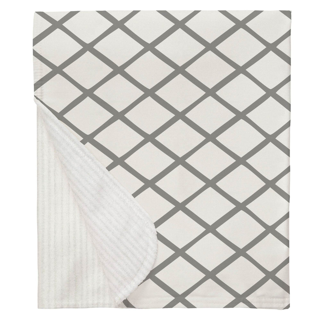 Product image for Cloud Gray Trellis Baby Blanket