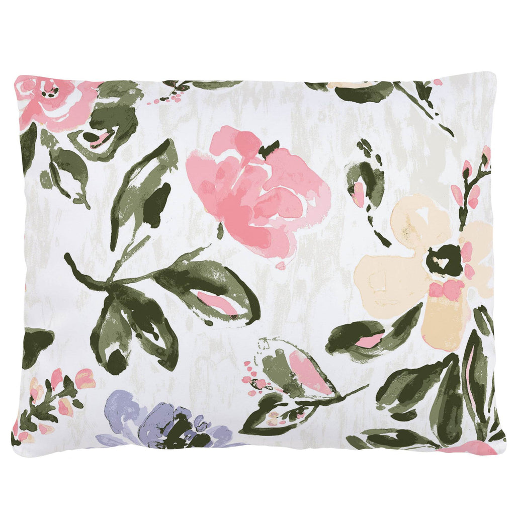 Product image for Coral Pink Garden Accent Pillow