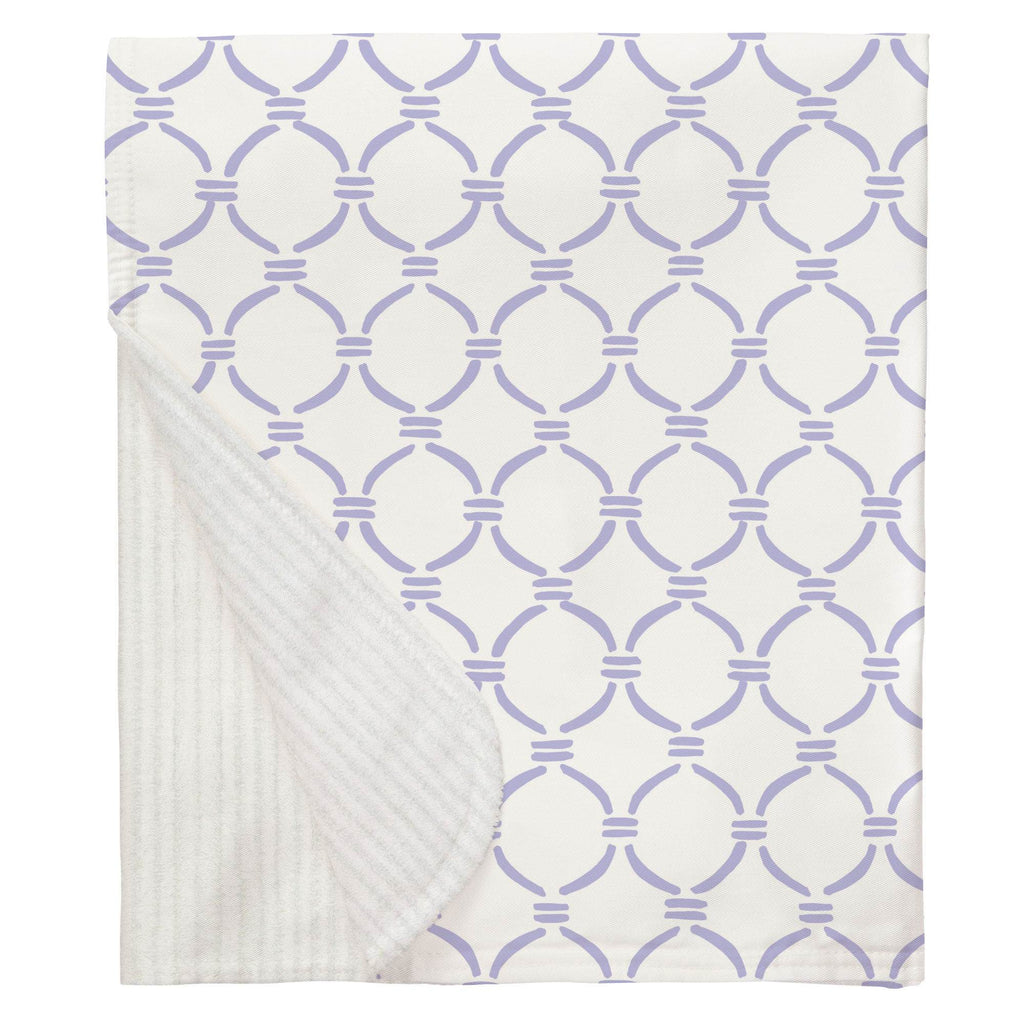 Product image for Lilac Lattice Circles Baby Blanket