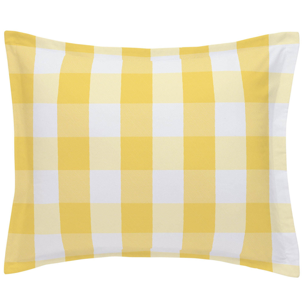 Product image for Saffron Buffalo Check Pillow Sham