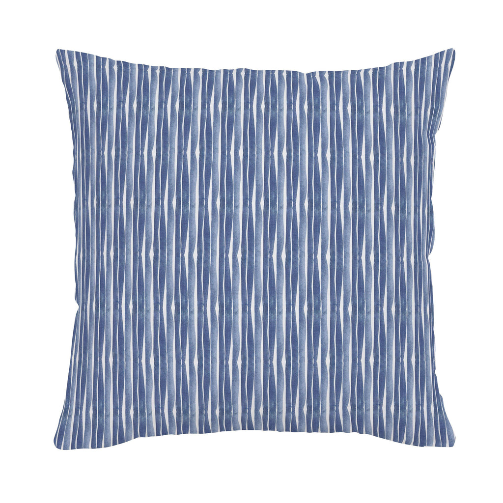Product image for Blue Ocean Stripe Throw Pillow