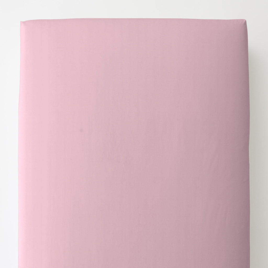 Product image for Solid Bubblegum Pink Toddler Sheet Bottom Fitted
