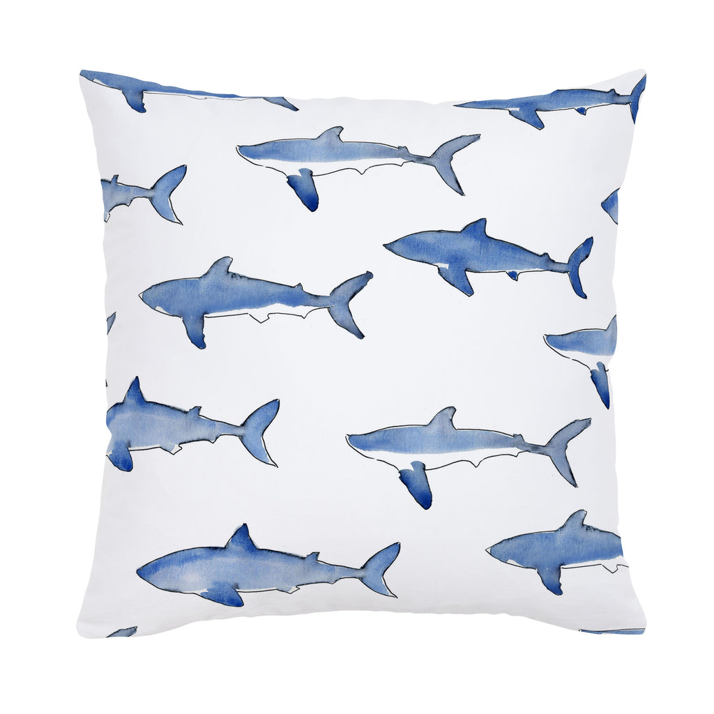 Product image for Blue Sharks Throw Pillow