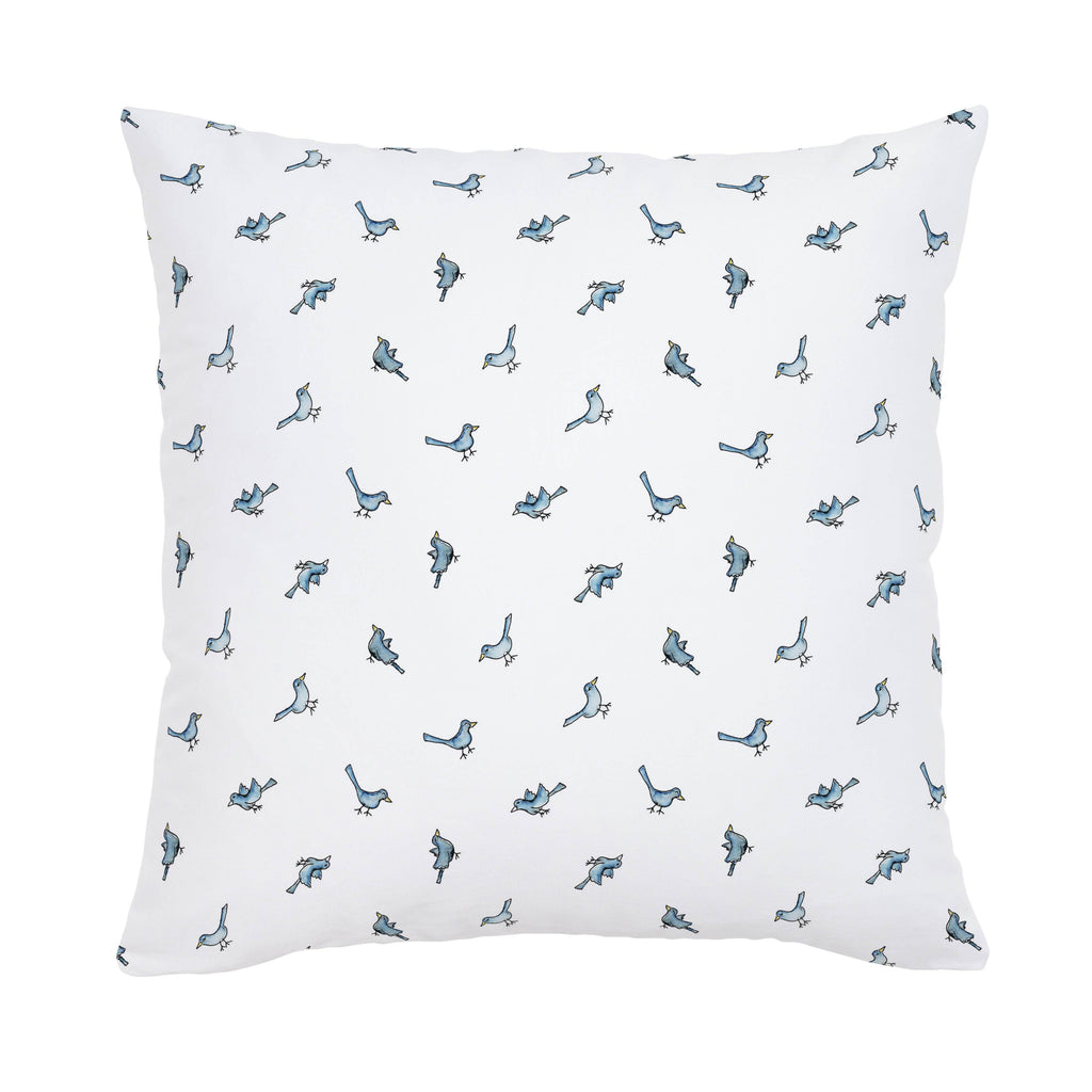 Product image for Blue Birds Throw Pillow