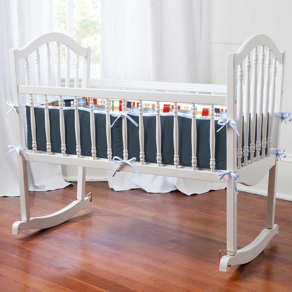 Product image for Patchwork Plaid Cradle Bumper