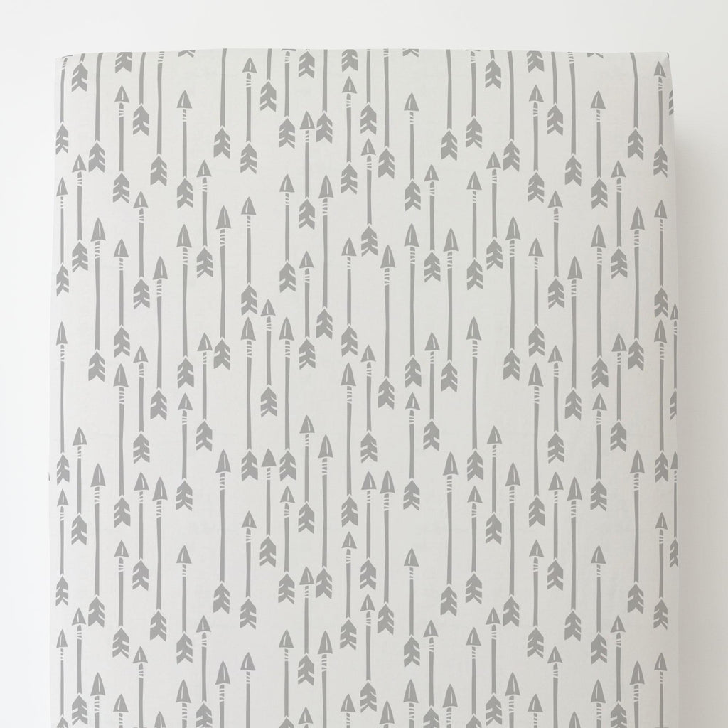 Product image for Silver Gray Flying Arrow Toddler Sheet Bottom Fitted