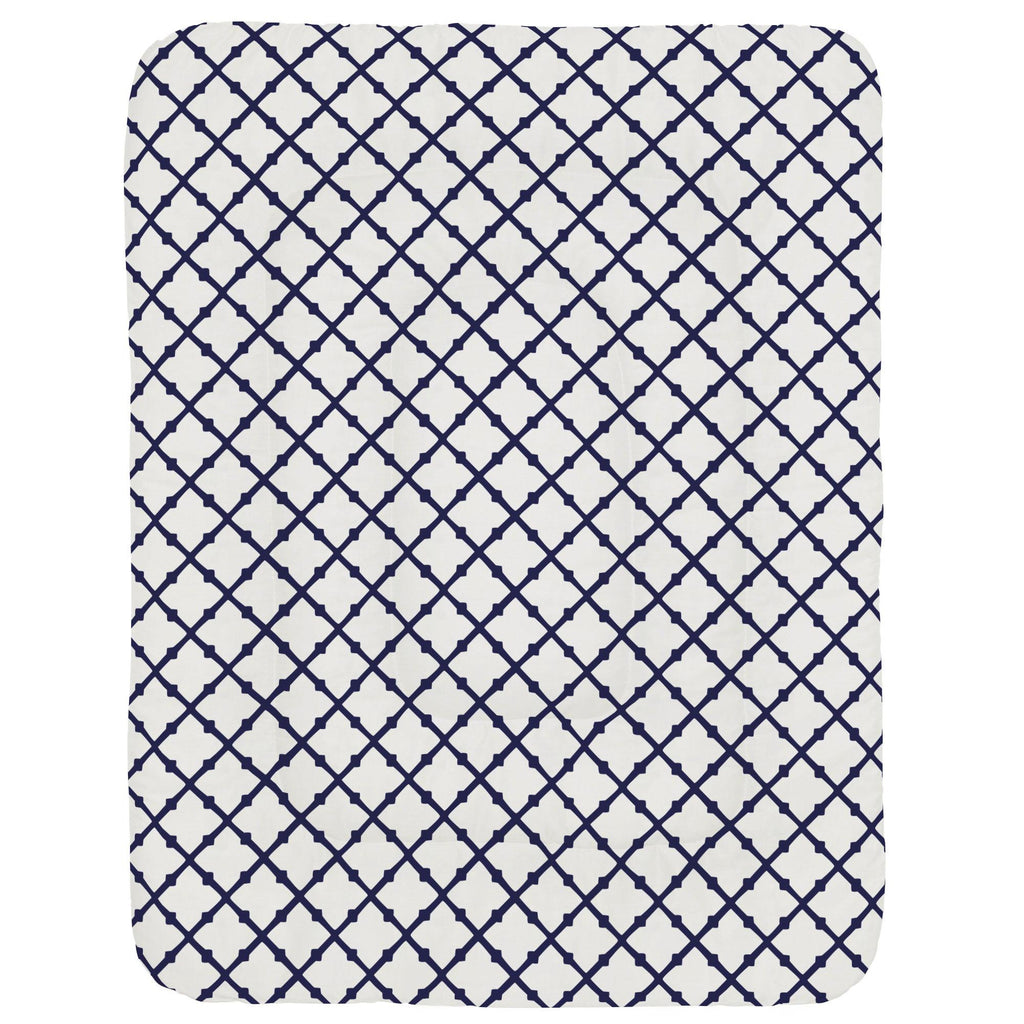 Product image for Windsor Navy Lattice Crib Comforter