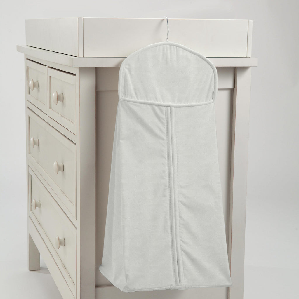 Product image for Silver Gray Linen Diaper Stacker