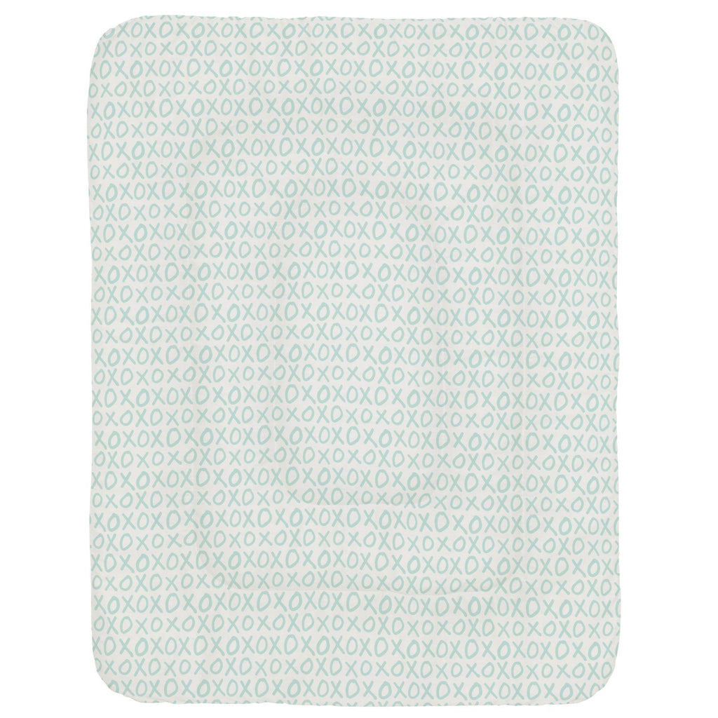 Product image for Icy Mint XO Crib Comforter