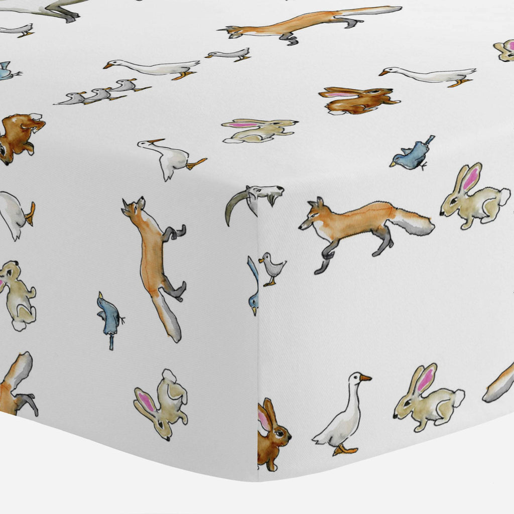 Product image for Bunny Farm Crib Sheet