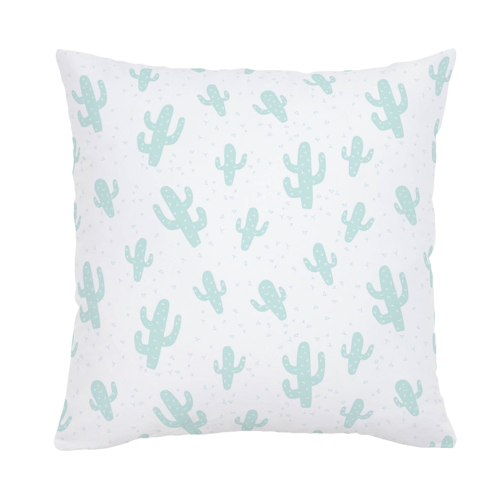 Product image for Icy Mint Cactus Throw Pillow