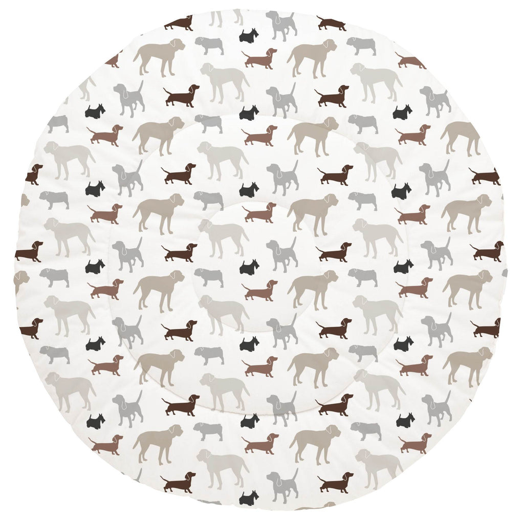 Product image for Brown and Gray Dogs Baby Play Mat